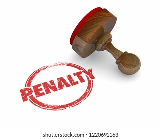 Penalty Fee Punishment Round Stamp Word 3d Illustration