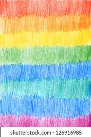 Pencil Color Rainbow Background