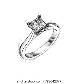 pencil drawing of ring