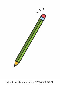 Pencil icon. Isolated on White background