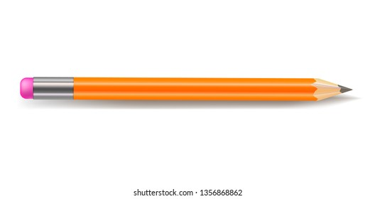 Pencil, Isolated on White Background illustration, Drawing Instrument.