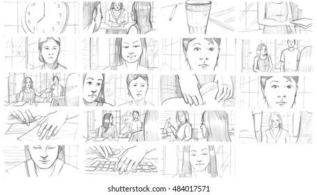 Pencil storyboards