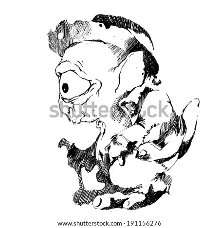pencildrawn monsters stock illustration royalty free stock All Breeds of Ponies pencil drawn monsters