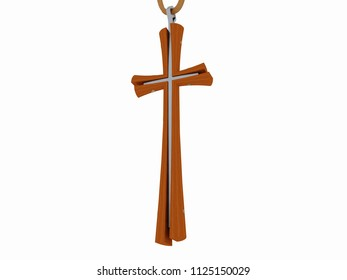 Pendant cross, 3D model
