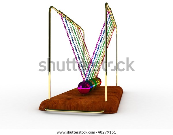 Pendulum 3d Model Stock Illustration 48279151