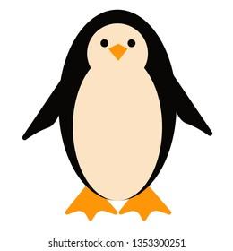 Penguin flat illustration on white