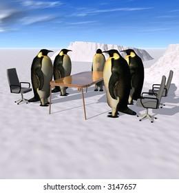 Penguins meeting