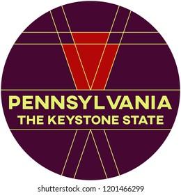 pennsylvania: the keystone state | digital badge