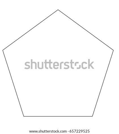 pentagon icon template stock illustration 657229525 shutterstock