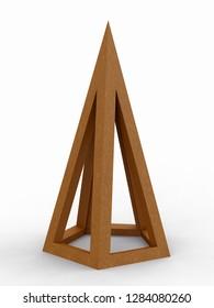 Pentagon, Leonardo da Vinci, Divina Proportione/293. 3D model