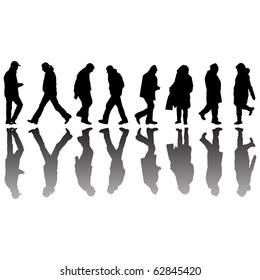 people black silhouettes, abstract art illustration; for vector format please visit my gallery