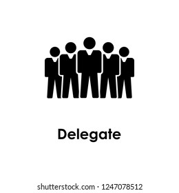 people, delegate icon. Element of business icon for mobile concept and web apps. Detailed people, delegate icon can be used for web and mobile