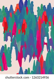 People and diversity. Social and human heterogeneity. Psychology. Community population. Artistic and abstract conceptual colorful representation of social feelings. Illustration.
