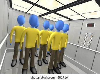 People In Elevator