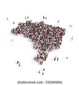 people group shape map Brazil