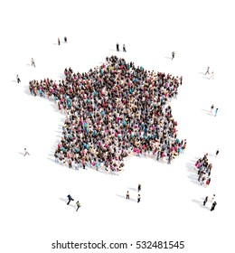 people group shape map France