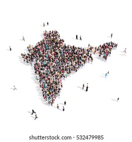 people group shape map India