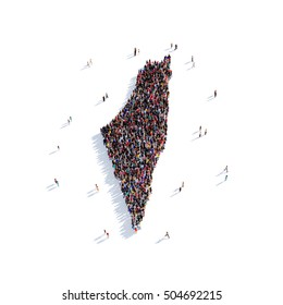 people group shape map Palestine