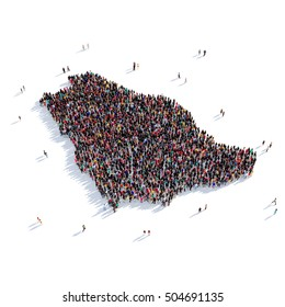 people group shape map Saudi Arabia