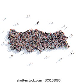 people group shape map Turkey