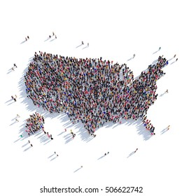 people group shape map USA