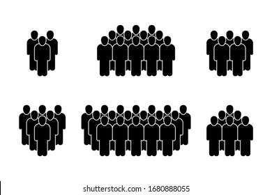 People icon set in trendy flat style. isolated on white background