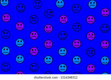 People illustration. High definition backdrounds. Throng comprising smart smileys.
