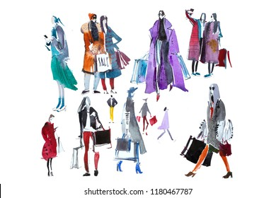 Fashion Drawing Images Stock Photos Vectors Shutterstock