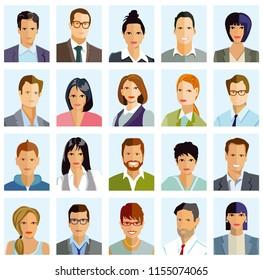 people Portrait illustration,