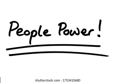 People Power! handwritten on a white background.