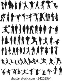 people silhouttes