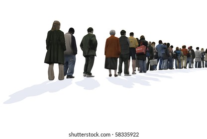 people standing in a line