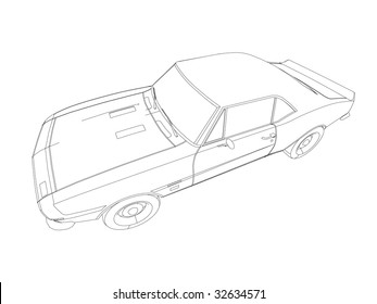 royalty free stock illustration of black white pencil concept art Concept Boats of the Future people throw petrol cars go on the ecological fuel