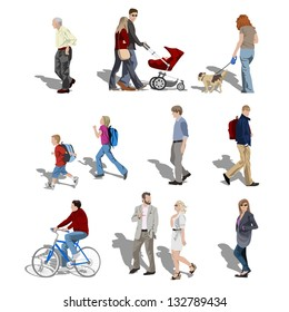 People walking. Also available in vector.