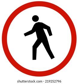 people walkway sign board