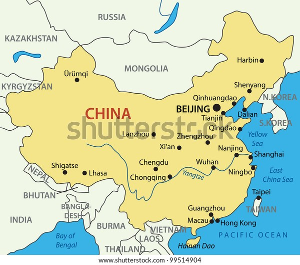 Peoples Republic China Map Stock Illustration 99514904