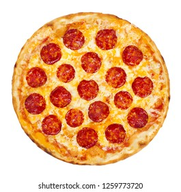 pepperoni pizza top view dough cheese food illustration