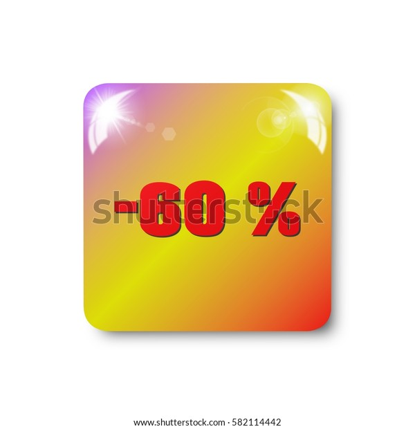 percent discount icon, sign, illustration