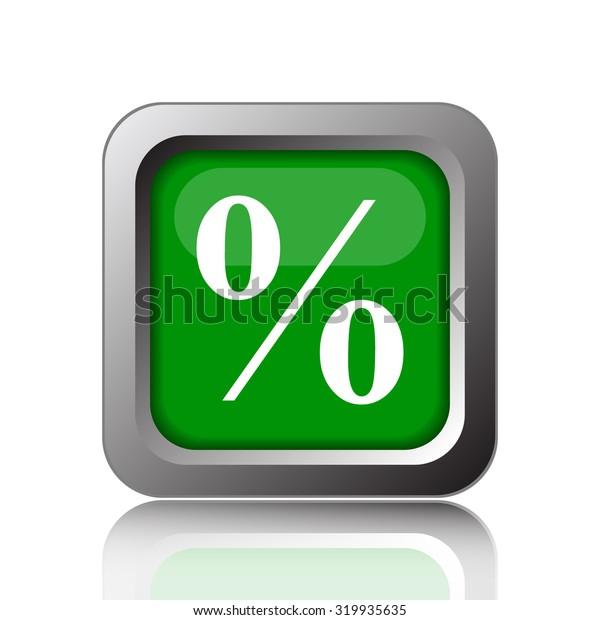 Percent  icon. Internet button on white background.