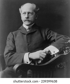"""Percival Lowell (1855-1916) American Astronomer, founder of the Lowell Observatory at Flagstaff, Arizona. """"In Mars and Its Canals"""" (1906) he proposed intelligent life shaped the topography of Mars."""