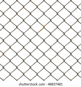 Perfect seamless tiling wire fence texture with rust.