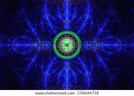 Perfection Geometry Beautiful Fractal Frequency Shapes Stock