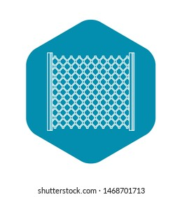 Perforated gate icon. Outline illustration of perforated gate icon for web
