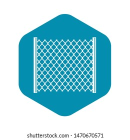 Perforated gate icon. Simple illustration of perforated gate icon for web