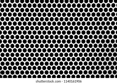 Perforated steel sheets with round hole perforations backgrounds. Perforated sheets with round holes  are the most commonly used for perforated products.