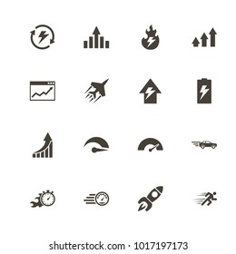 Performance icons. Flat Simple Icon - Gray Illustration on White Background.