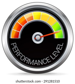 Performance Meter Illustration - as JPG File Stock Image