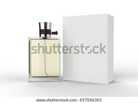 perfume bottle box mock template onのイラスト素材 697046365