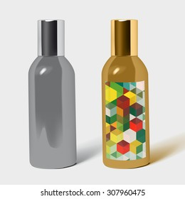 perfume bottle package isolated. Pack Template for your design and branding.