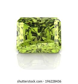 Peridot Emerald cutting